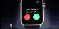 L'Apple Watch permet notamment de recevoir des appels depuis son poignet - « J'en rêve depuis mes cinq ans ! » a lancé Tim Cook.