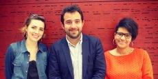 Albane Monjot, Ganaël Bascoul et Sandrine Planchon, les 3 associés d'Hobbystreet.
