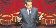 Nicolas Sarkozy évoquant le Grand emprunt devant le Congrès réuni à Versailles, le 22 juin 2009. Depuis, la dotation initiale de 35 milliards d'euros a été augmentée de 12 milliards par le gouvernement Ayrault, en juillet 2013.