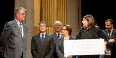 Jean Paul Delevoye, Antoinette Guhl et Anne Hidalgo lançant les Etats généraux de l'économie circulaire