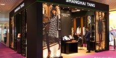 Illustration d'un stand réalisé par Depack pour la marque Hong Kongaise Shanghai Tang sur le salon Tax Free World Exhibiton à Cannes en 2014 (salon international du du duty free)