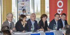 Claude Cassagne, Frédérique Camize, Pier Vincenzo Piazza, Joëlle Amédée, Bertrand Cousin et Jean-Philippe Laville