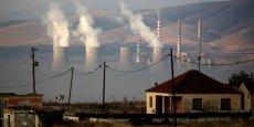 La centrale thermique (opérée par PPC, numéro un public grec de l'électricité) de Kardia, vue depuis la vallée de Ptolémaïda, très atteinte par la pollution, près de la ville Kozani, à 500 km au nord d'Athènes, le 29 septembre 2011.