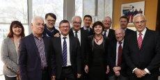 Carole Delga, entourée des représentants des CCI de Midi-Pyrénées