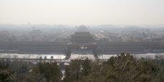 La Cité interdite de Pékin, sous le brouillard de la pollution (ici en janvier 2010).