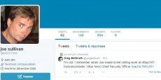 Capture d'écran du compte Twitter de Joe Sullivan