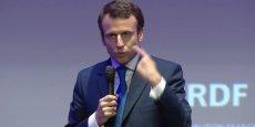 Emmanuel Macron lors du #PLTJE, lundi soir.