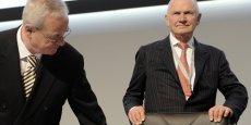 Ferdinand Piëch et Martin Winterkorn, les deux têtes de Volkswagen