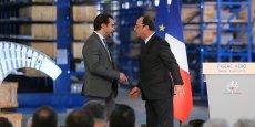 À Figeac Aéro, François Hollande et son garde du corps connu depuis les attentats de janvier