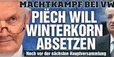 L'affaire Piëch/Winterkorn fait la une dans la presse allemande (ci-contre, détail de la une du Bild).