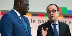Le président sénégalais Macky Sall et François Hollande, lors du forum France-Afrique, au ministère des Finances (Bercy) le 6 février 2015.