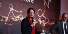 « Les 65 millions de Français, par leur contribution à la redevance publique, sont en droit d'être traités comme 65 millions d'abonnés. » relève Delphine Ernotte-Cunci (ici aux côtés de Stéphane Richard, le PDG d'Orange), dans son projet.