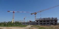 La plate-forme Ecotox en construction. Elle accueillera plus de 200 scientifiques.