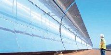 Livrable à la fin de 2015, la centrale solaire de Ouarzazate (Maroc) est conçue pour produire 500 MW, soit l'équivalent de la demande d'une ville de 250 000 habitants. Elle sera la plus grande d'Afrique.