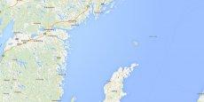 Capture d'écran de l'île de Gotland, en mer Baltique, à 90 km à l'est de la Suède