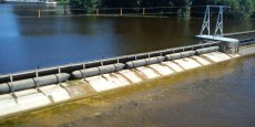 Le barrage d'Auxonne (21) utilise une technologie similaire à celle qui sera utilisée sur les 29 barrages dans l'Aisne et la Meuse.