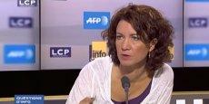 Marie-Eve Malouines collabore à l'émission Questions d'info sur LCP-AN.