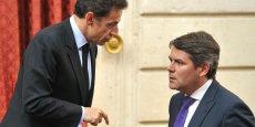 Franck Louvrier, ici en 2010 aux côtés de Nicolas Sarkozy, alors président de la République.