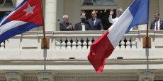 François Hollande en visite officielle à Cuba, le 11 mai 2015.