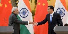 La Chine est le plus important partenaire commercial de l'Inde. Le commerce annuel entre les deux pays totalise quelque 70 milliards de dollars.