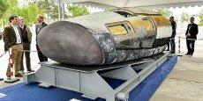 L'IXV de Thales Alena au Haillan à l'époque du groupe Herakles (Safran). Ce véhicule expérimental intermédiaire (de rentrée dans l'atmosphère) illustre le poids de la R&D (faible pourvoyeuse d'emplois) dans le spatial néo-aquitain.
