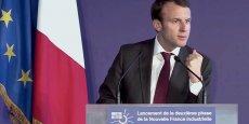 Emmanuel Macron lors du lancement de la 2e phase de la Nouvelle France Industrielle.