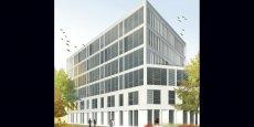 Première vue d'architecte du futur siège régional de Bouygues Immobilier à La Cartoucherie