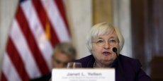 Janet Yellen, présidente de la Réserve fédérale. La banque centrale américaine hésite à relever les taux d'intérêt, en raison notamment du sous emploi persistant des salariés américains.