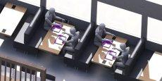 Des tables avec écrans tactiles, dont le but est d'améliorer la qualité du service dans la restauration.