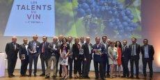 Les Talents du vin 2015 de La Tribune - Objectif Aquitaine, les partenaires de l'événement et une partie de l'équipe de La Tribune - Objectif Aquitaine.