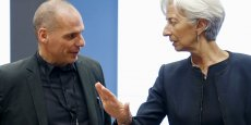 Si le 1er juillet ce n'est pas payé, ce n'est pas payé, a  déclaré Lagarde lors d'une conférence de presse à Luxembourg, avant une réunion de la zone euro consacrée à la Grèce. (Photo: Yanis Varoufakis et Christine Lagarde, jeudi 18 juin 2015)