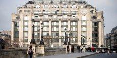 La façade de la Samaritaine côté Seine, construite entre les deux guerres mondiales par l'architecte Henri Sauvage.