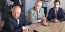 J.-M. Baylet, B. Maffre et J.-N. Baylet, le 25 juin au siège des Journaux du Midi