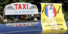 Manifestation nationale des taxis de jeudi contre Uber.