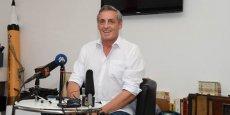 Philippe Saurel, lors de l'officialisation de sa candidature aux régionales 2015, le 29 juin à Montpellier