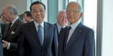 Le Premier ministre chinois, Li Keqiang, accueilli par Jacques Saadé, Pdg de CMA CGM.