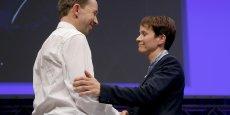 Frauke Petry (à droite) est devenu leader d'AfD en battant Bernd Lucke, fondateur du parti (à gauche).