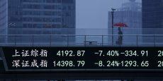 Le marché actions chinois avait plus que doublé en un an, malgré les signes multiples de ralentissement de la croissance et la dégradation des résultats des entreprises cotées, une évolution qui a conduit de nombreux observateurs, y compris les autorités boursières, à conclure que l'évolution du marché était exagérée.
