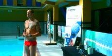 L'annonce de la nouvelle fonctionnalité de l'application s'est faite en présence de Frédéric Bousquet, qui a détenu jusqu'en 2009 le record du monde de 50 mètres nage libre en grand bassin.