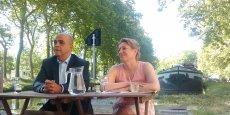 Le député socialiste Kader Arif et Valérie Piganiol, présidente du Club économique Au fil de l'Ô