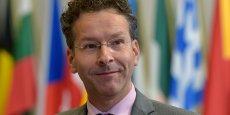 Le président de l'Eurogroupe, Jeroen Djisselbloem, lundi 13 juillet à Bruxelles, après le sommet de l'Eurogroupe. Ce mardi,  il a tenu à préciser que la question d'un prêt relais est à l'étude « parce qu'il y a des besoins urgents et que le processus de finalisation de l'accord prendra du temps.