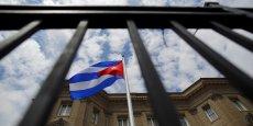 Cela faisait 54 ans que le drapeau de Cuba n'avait pas été hissé à Washington.