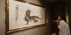 Le faussaire chinois a volé des tableaux de maîtres, dont certaines oeuvres de l'artiste Qi Biashi comme Le Tigre.