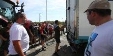 Le syndicat agricole FNSEA a mené le 24 juillet dernier une action au péage de Lestelle sur l'A64 en Haute-Garonne.