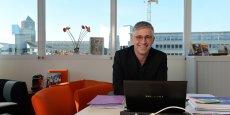 Olivier Faure, directeur d'Orange Centre-Est, dans son bureau à Lyon.