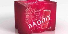 La «slim can» Badoit a été conçue pour être facilement transportée.