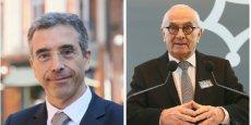 Le chef de file LR pour les régionales Dominique Reynié et le président de Région Martin Malvy.