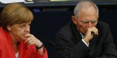 Angela Merkel et Wolfgang Schäuble pourraient bien être d'accord sur l'avenir de l'Europe