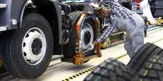 Une chaîne de montage MAN à Munich. L'économie alleamnde dépend encore de ses exportations.