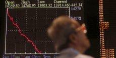 À Tokyo, première place majeure à ouvrir en Asie, la Bourse s'est enfoncée de 4,61%, au plus bas en six mois après cinq journées de recul.